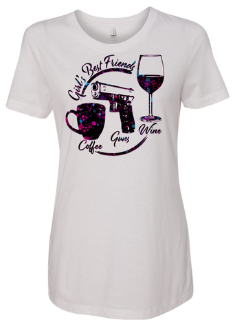 Coffee, Guns, Wine - White