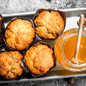 Comb Honey, Apple and Cinnamon Muffins