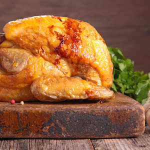 Roasted Chicken with Apricot and Honey Mustard