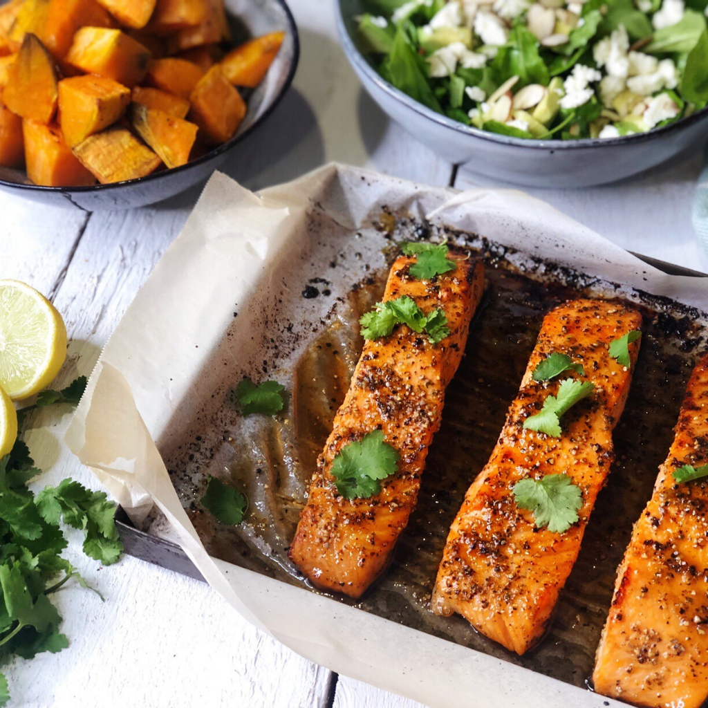 Honey, Lime & Pepper Salmon