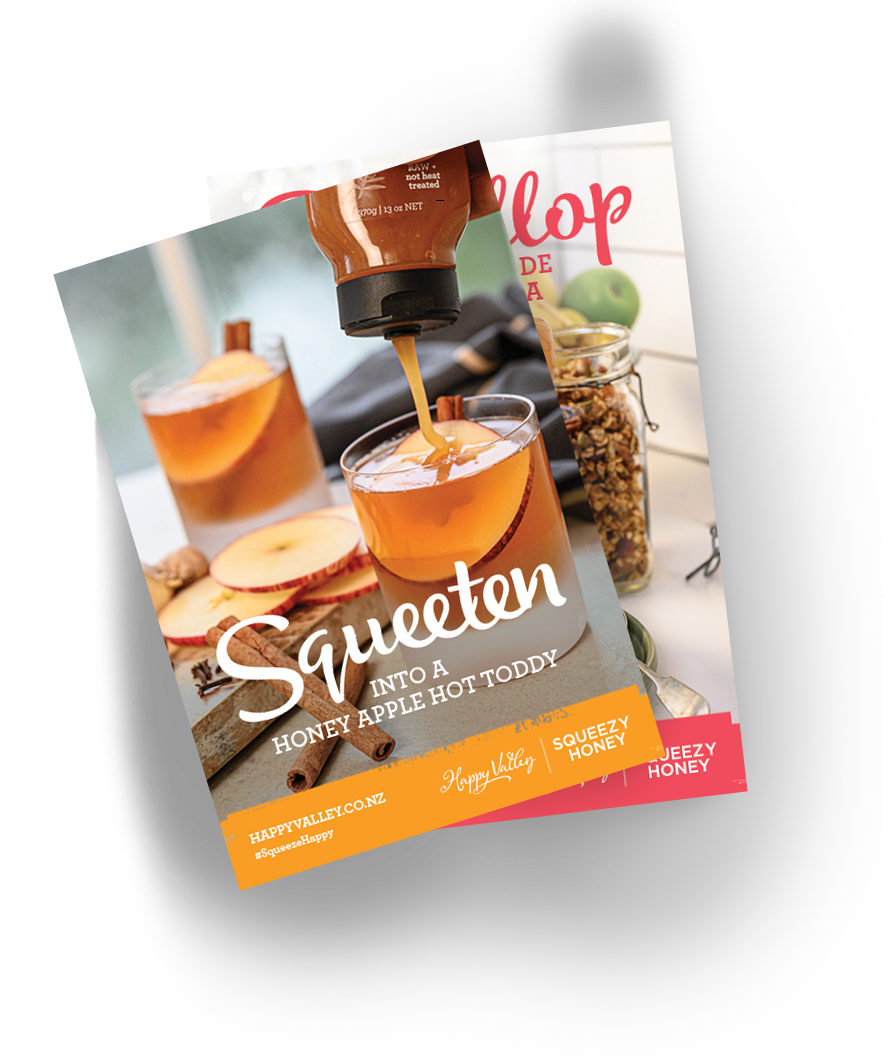 Get the SQUEEZY HONEY recipe Book