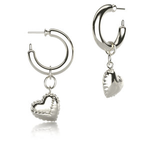 Latex Balloon Hoops Plateados Con Charm