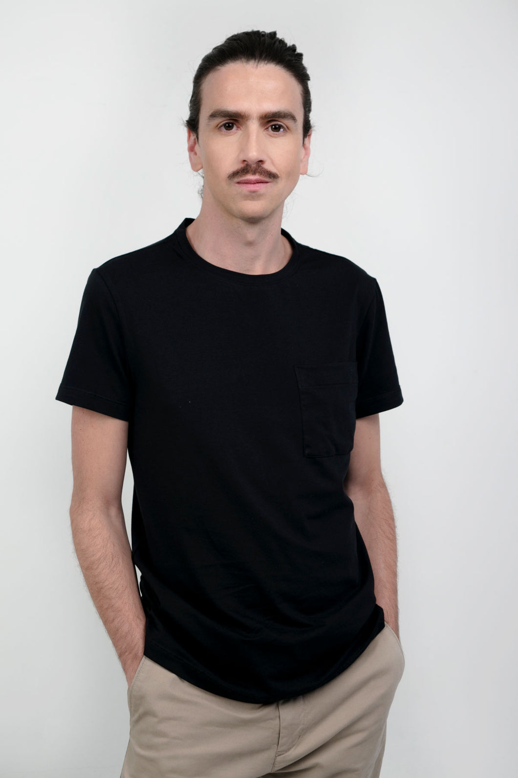 Anderson Slim Tee With Pocket Negra