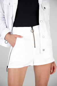 Rocky Zipped Short Blanco/Beige