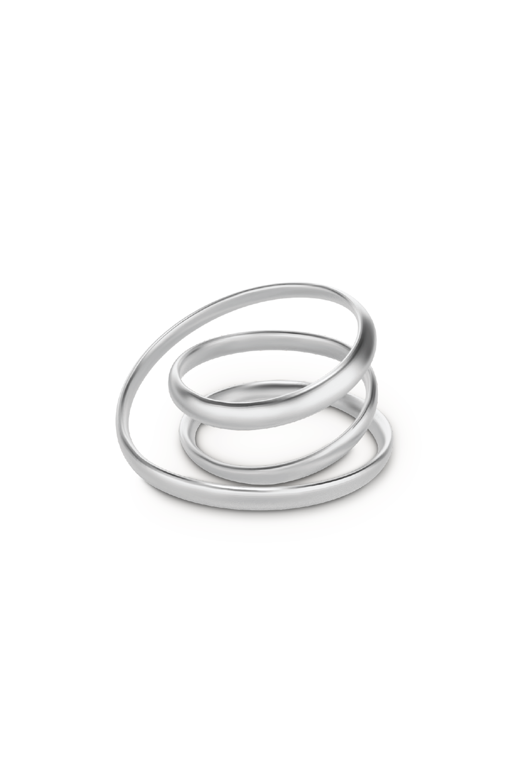 Anillo double loop plateado