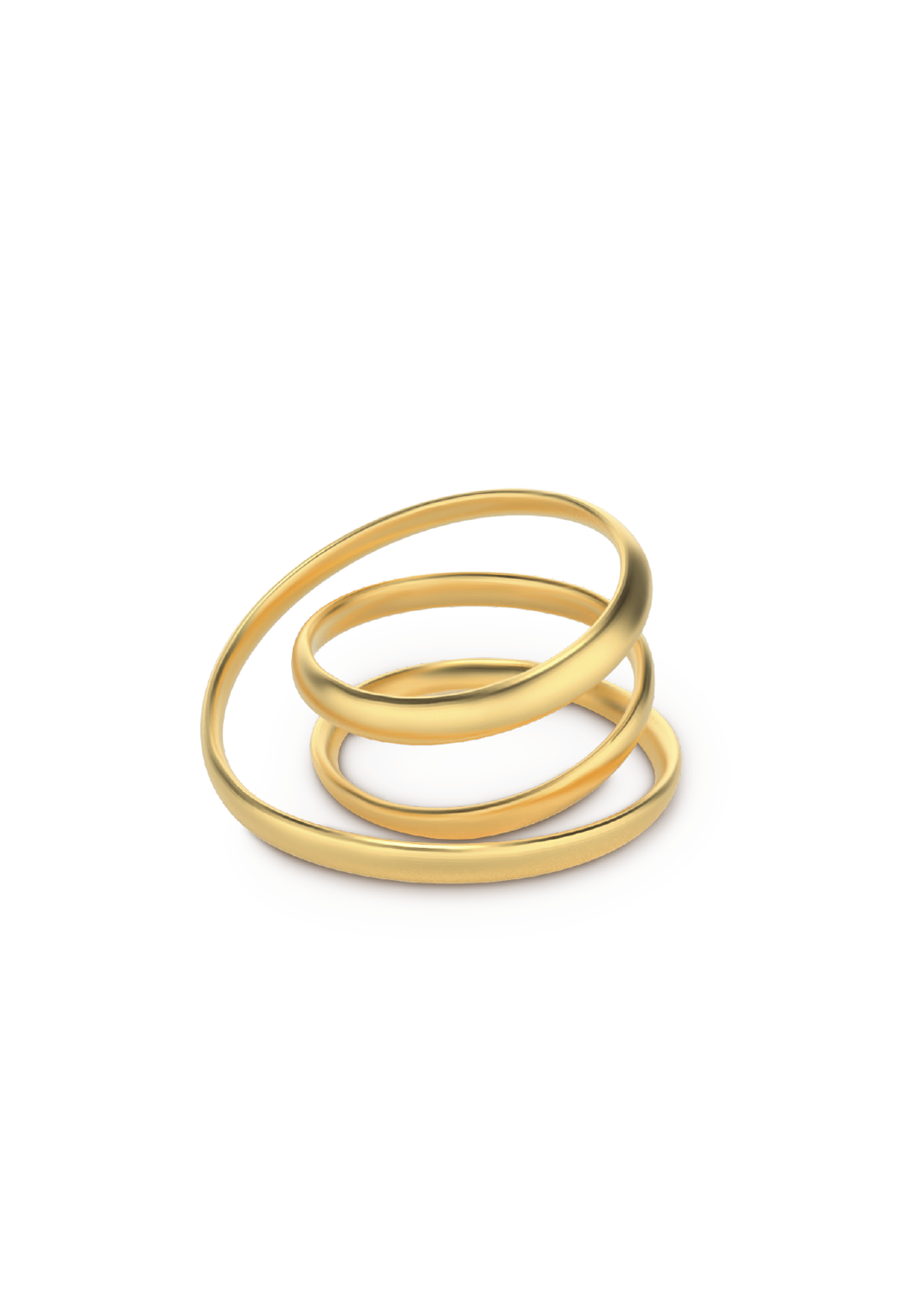 Anillo double loop dorado