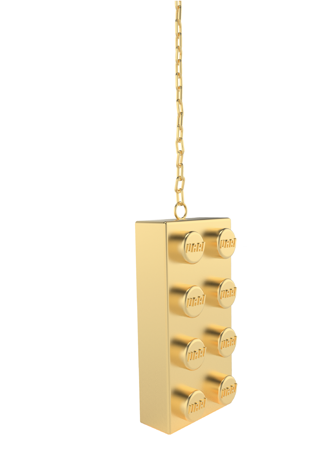 VARI block necklace dorado