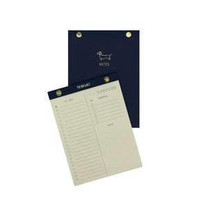 To-do list Notepad Dachshund Azul