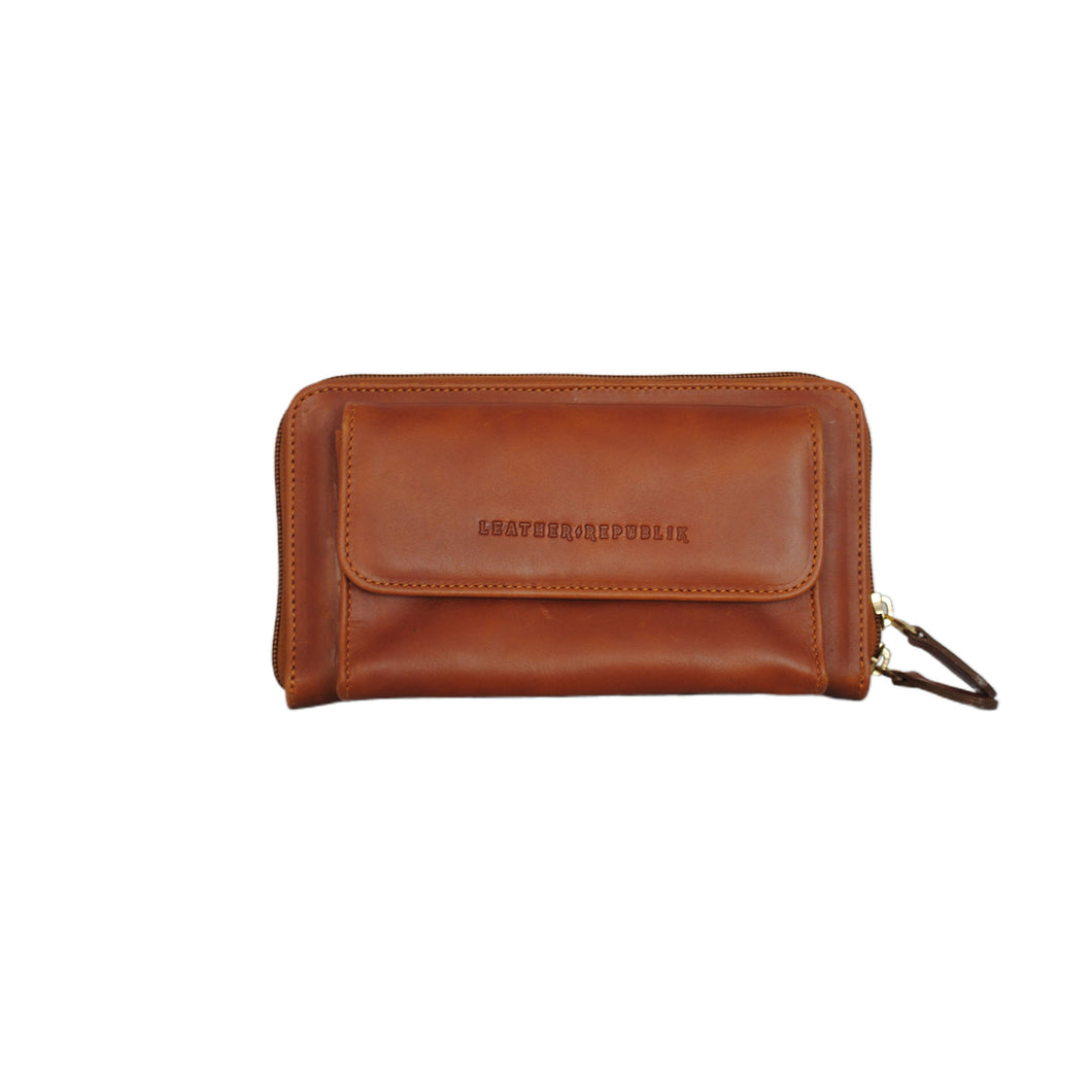 Cross Body Wallet Café