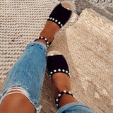 Abacde Chic Flats Adjustable Buckle Sandals