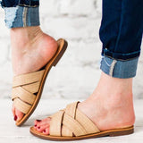 Abacde Fashion Stylish Casual Cross Sandals