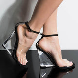 Abacde Transparent Pvc Buckles Heels