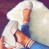 Abacde Rivet Detail Wedge Heels
