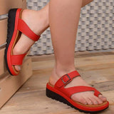 Abacde  Casual Open Toe Adjustable Sandals