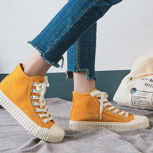 Abacde Casual Canvas High Top Sneakers