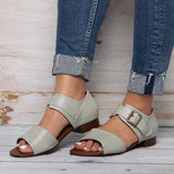 Abacde Side Buckle Flats Sandals