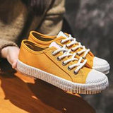 Abacde Skateboard Leisure Lace Up Comfortable Casual Canvas Sneakers