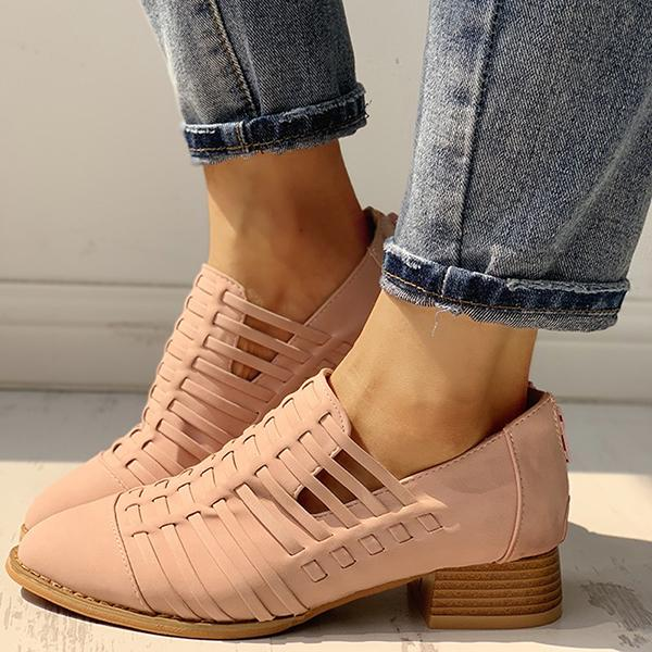 Abacde Pointed Toe Braided Shoes