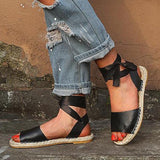 Abacde Fashion Comfty Ankle Strap Flat Sandals