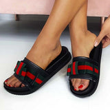 Abacde Striped Bowkot Design Slippers