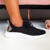 Abacde Round Toe Lace-up Sneakers