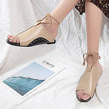 Abacde Ankle Strap Open Toe Flat Spring Summer Beach Sandals