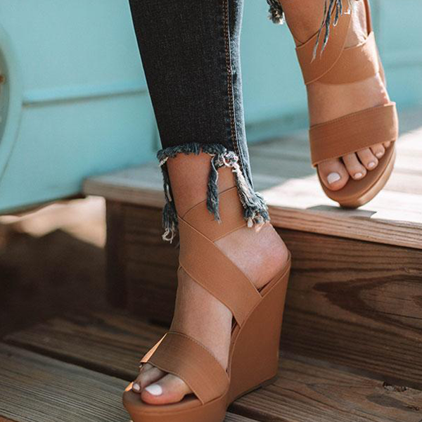 Abacde The Jenson Wedge Heel Sandals