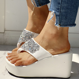 Abacde Studded Platform Wedge Sandals