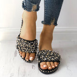 Abacde Sequins Shiny Antiskid Slippers