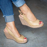 Abacde Casual Wedge Open Toe Sandals