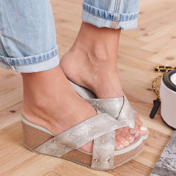 Abacde Casual Open Toe Wedges Sandals
