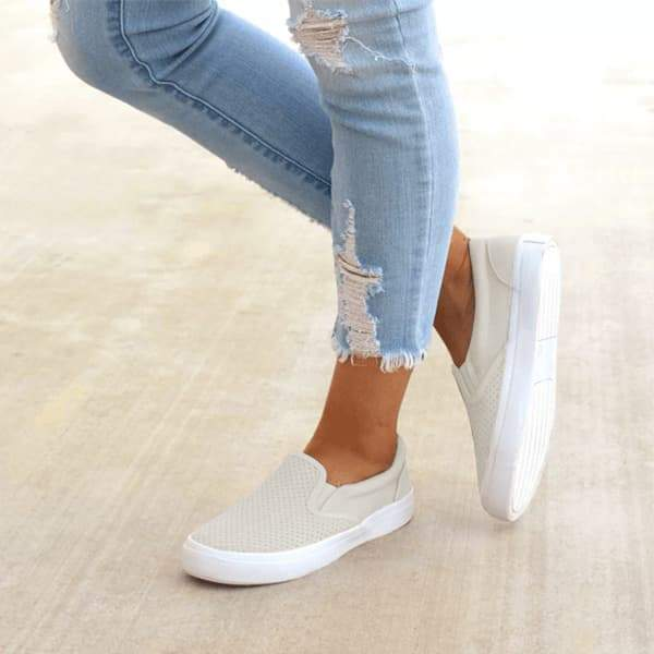 Abacde Slip On Running Flat Sneakers