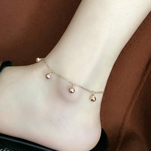 Abacde Handmade Dainty Anklet Foot Adjustable Chain