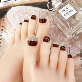 Abacde Fashion Colorblock Toes Nail Stickers