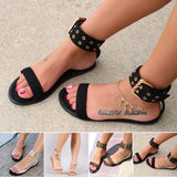 Abacde Open Toe Adjustable Buckle Sandals