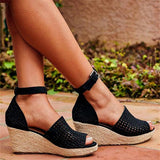 Abacde Hollow Out Casual Sandals