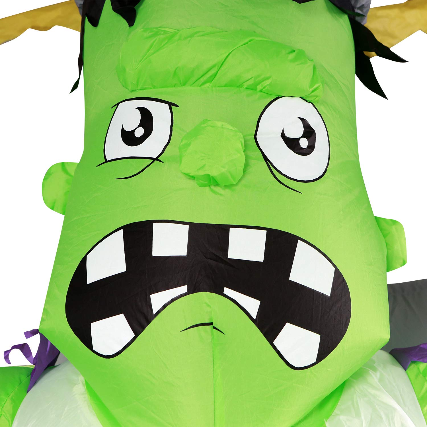 Halloween Inflatable Frankenstein Giant 7ft Tall - Lighted Decorations Airblown Spooky Large Outdoor Blow Up Yard Inflatable