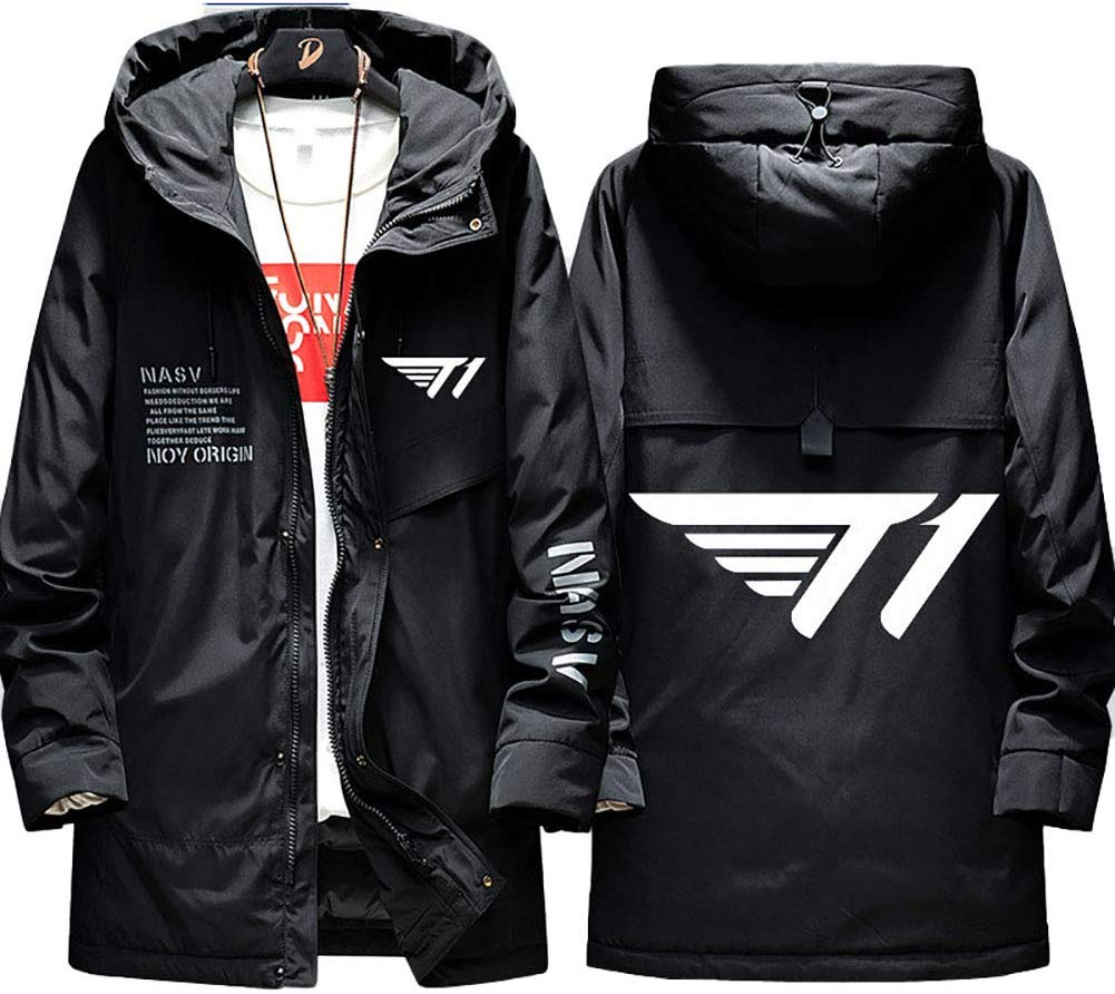 Men's Down Jackets LOL League of Legends SKTelecom T1 E-Sport Full Zip Winter Coats