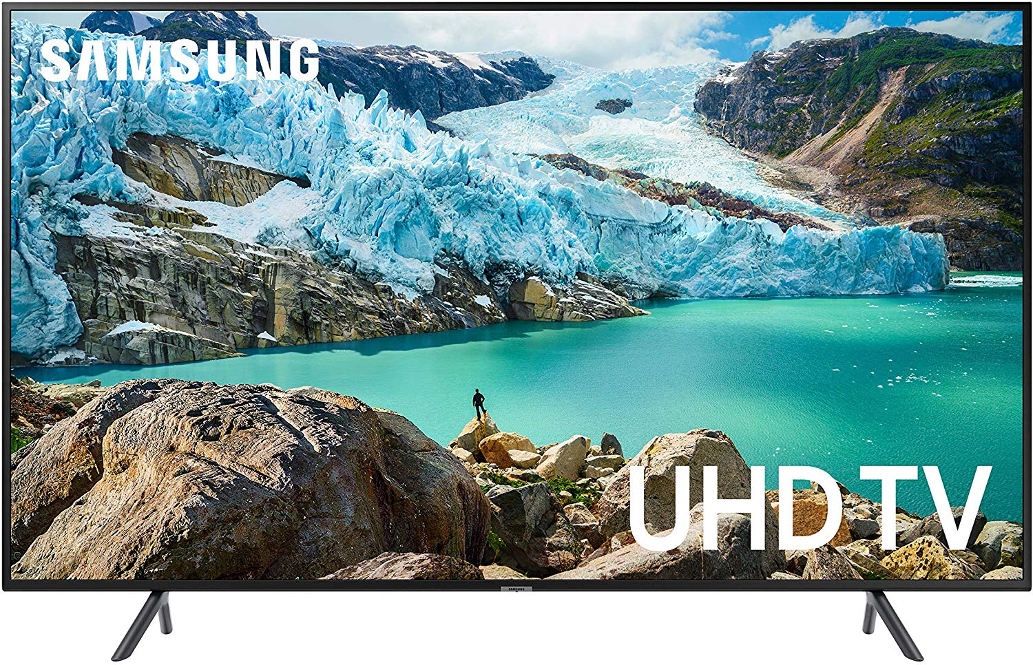 Samsung UN50RU7100FXZA Flat 50-Inch 4K UHD 7 Series Ultra HD Smart TV with HDR and Alexa Compatibility (2019 Model)