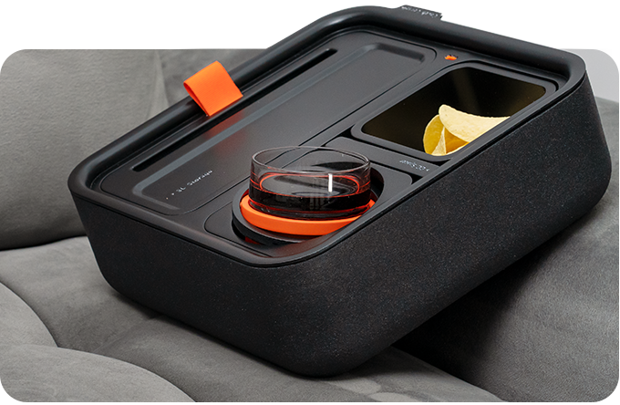 Self-balancing Cupholder, Snack Holder, Phone Stand