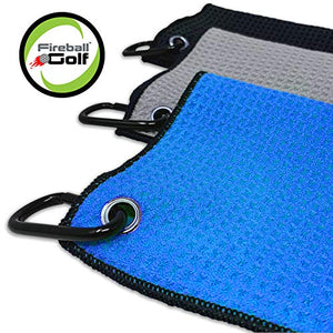 Fireball Golf 5-Piece Deluxe Golf Towel Gift Accessories Set in Blue