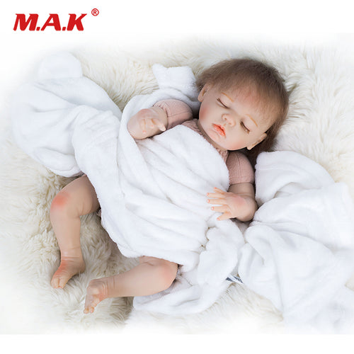 48cm Bebes doll Reborn Handmade Real Looking Baby Doll Closed Eyes Rabbit Clothes Dolls Child Brithday Gift Girls Brinquedos