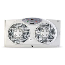 Load image into Gallery viewer, Bionaire Window Fan with Twin 8.5-Inch Reversible Airflow Blades and Remote Control, White BW2300-N 2 Blades