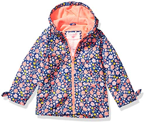 Carter's Baby Girls Midweight Fleece-Lined Jacket, Floral On Blue, 24 Months C219516