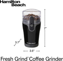 Load image into Gallery viewer, Hamilton Beach Fresh Grind 4.5oz Electric Coffee Grinder for Beans, Spices and More, Stainless Steel Blades, Black (80335R)