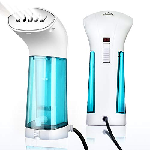 Body Paradise Mini Steam Iron for Clothes Handheld Fabric Steamer Travel Garment Wrinkles Remover Hanging Ironing Steamer Home Use Soften Sanitize Portable Garment Steamer Machine, No Spilling, No Smelling Small Blue