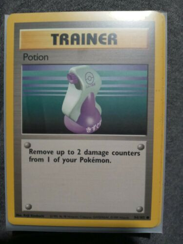 Unbelievable Find! 1995 Pokemon Card Trainer Card POTION 94/102RARE!