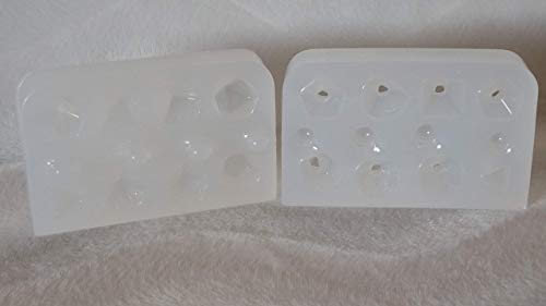 SilverLite Polyhedral Dice - 2 Part Mold - FULL SET - Plus an Additional D20
