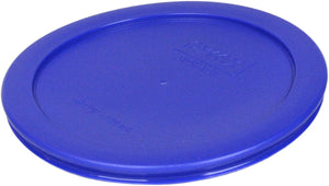 Pyrex 7201-PC Round 4 Cup Storage Lid for Glass Bowls (3, Light Blue)