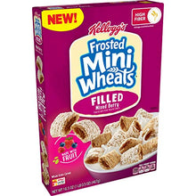 Load image into Gallery viewer, Kellogg's Frosted Mini-Wheats Filled, Breakfast Cereal, Mixed Berry, 16.5oz Box